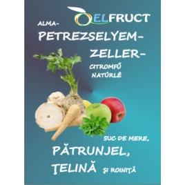 Alma-petrezselyem-zeller-citromfű natúrlé